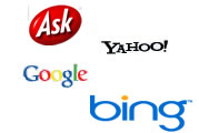 Primary search engines used in evaluating search engine strategies
