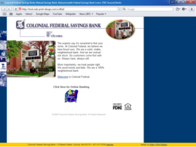 Example of Banks and Financial Bank Real Estate Web Design