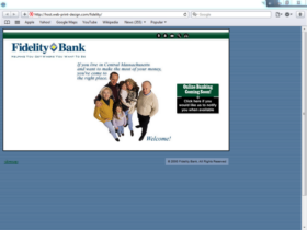 Example of Banks and Financial Bank Small Business Web Design