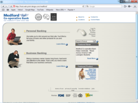 Example of Banks and Financial Bank Web Page Development