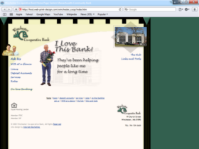Example of Banks and Financial Bank Internet Marketing Web Site
