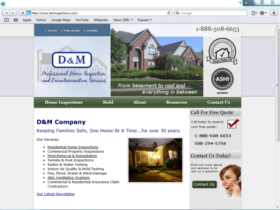 Example of Construction Real Estate and Home Improvement Management and Repairs web design company