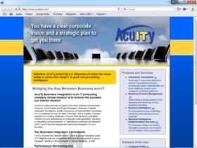Example of Corporate Services Business Consulting web design ma