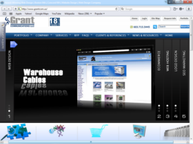 Example of Corporate Services Business Consulting Internet Site Web