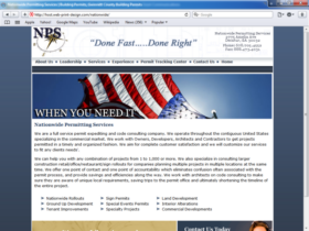 Example of Corporate Services Construction SEO Web Design