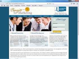 Example of Corporate Services HR and Training web design