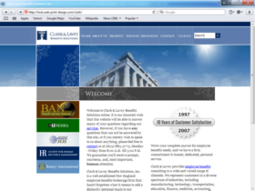 Example of Corporate Services HR and Training Business Web Design