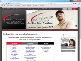 Example of Corporate Services Transport and Logistics Professional Web Design