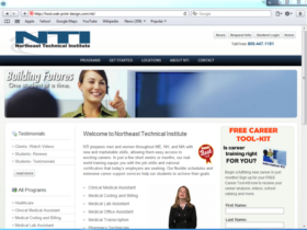 Example of Education Higher Education and Colleges internet marketing