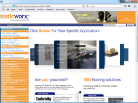 Example of Manufacturing Distribution Internet Marketing Web Site