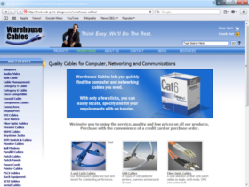 Example of Manufacturing Distribution web design