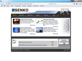 Example of Manufacturing High Technology Web Design Web Site