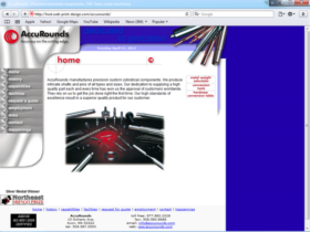 Example of Manufacturing Materials and Heavy Equipment custom web design