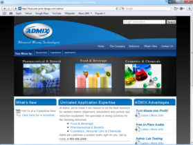 Example of Manufacturing Materials and Heavy Equipment Website Design
