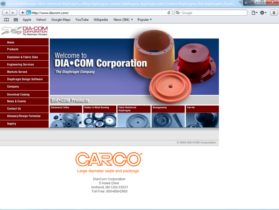 Example of Manufacturing Materials and Heavy Equipment Web Site Design
