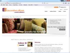 Example of Retail Clothing and Accessories internet marketing company
