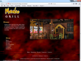 Example of Travel and Lodging Hotels and Restaurants web site development