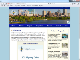 Example of Corporate Services Management and Repairs web site design