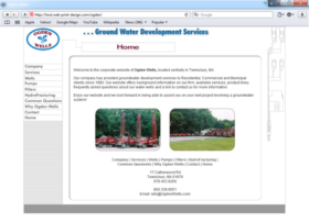 Example of Construction Real Estate and Home Improvement Home Improvement small business web design