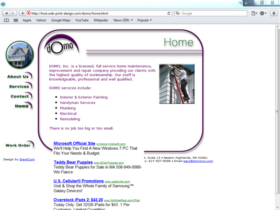 Example of Construction Real Estate and Home Improvement Management and Repairs Internet Marketing Web Site