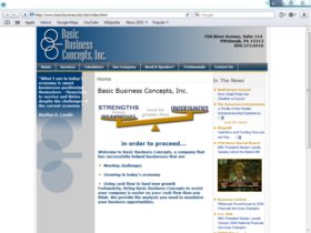 Example of Corporate Services Business Consulting web pages