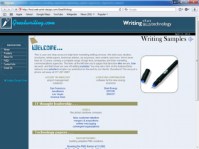 Example of Corporate Services Business Consulting Internet Web Marketing