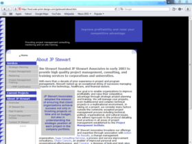 Example of Corporate Services Business Consulting Website Designers