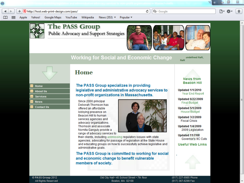 Example of Corporate Services Business Consulting Home Page