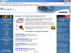 Example of Corporate Services HR and Training Website Design
