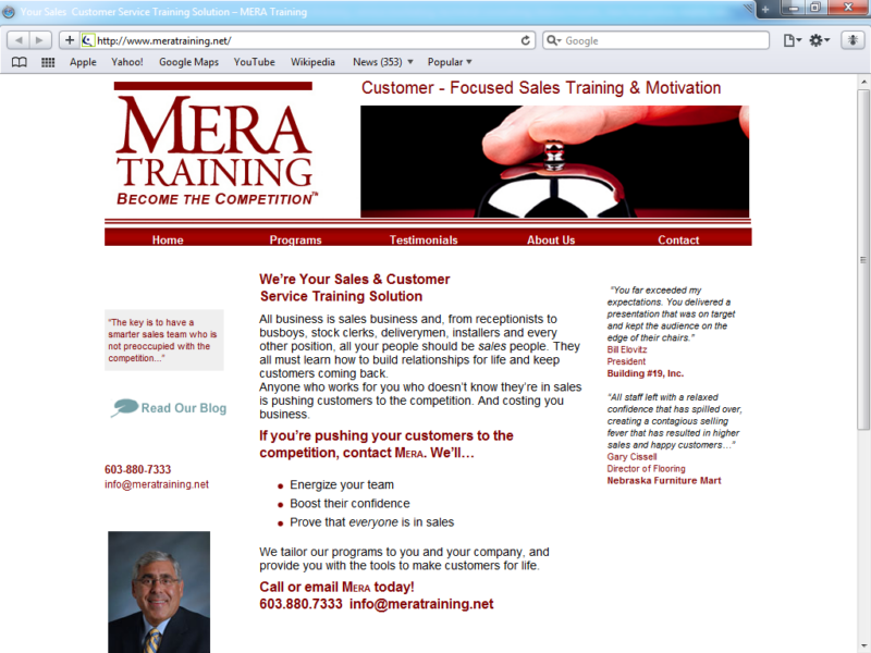 Example of Corporate Services HR and Training internet marketing