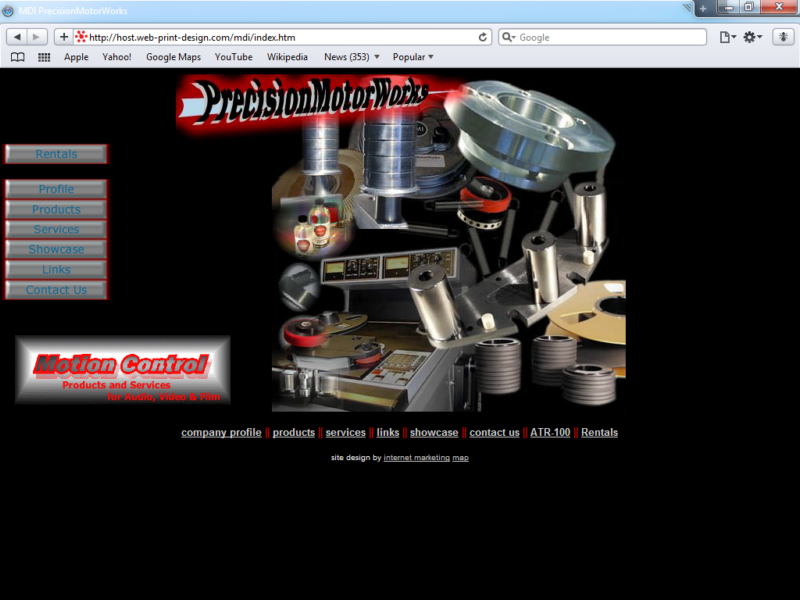 Example of Retail Music and Other Consumer Web Site Design Company