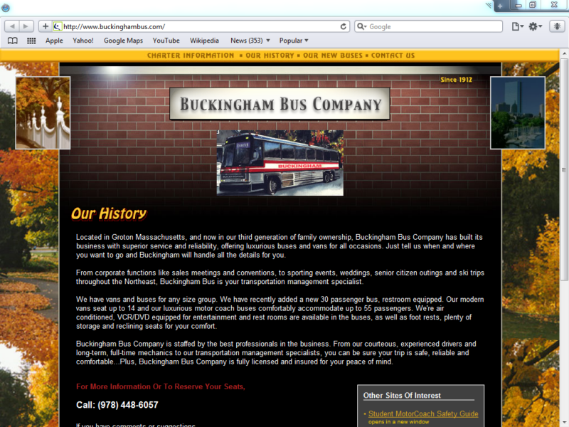 Example of Corporate Services Transport and Logistics web designer