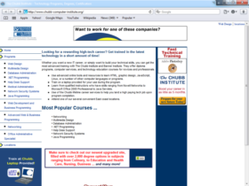 Example of Education Higher Education and Colleges web design