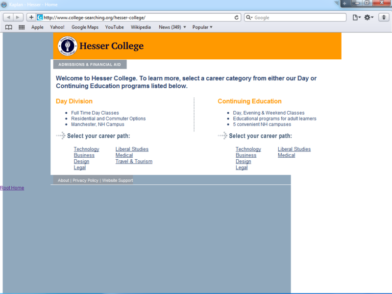 Example of Education Higher Education and Colleges Small Business Web Design