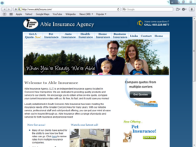 Example of Health Care Pharma and Professionals Health Care and Insurance web page design