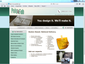 Example of Manufacturing Contract Manufacturing SEO Web Design