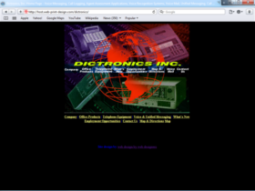Example of Manufacturing Distribution Business Web Design