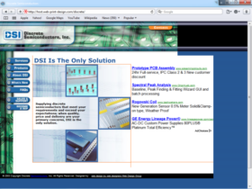 Example of Manufacturing Distribution Web Page Development