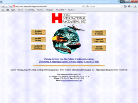 Example of Manufacturing Materials and Heavy Equipment Web Development