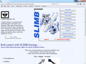 Example of Manufacturing Materials and Heavy Equipment Web Site Design Services