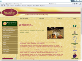Example of Retail Gifts Arts and Other web designer