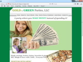 Example of Retail Gifts Arts and Other web design