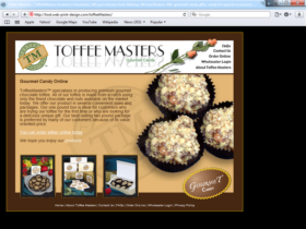 Example of Retail Gifts Arts and Other Small Business Web Site