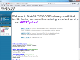 Example of Retail Publishing Website Promotion
