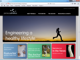 Example of Retail Sports and Health web site design company