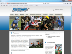 Example of Retail Sports and Health web design