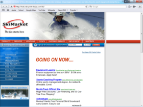 Example of Retail Sports and Health web site design