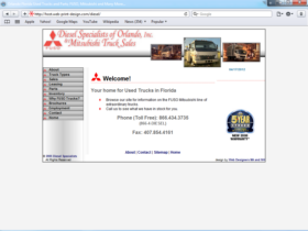 Example of Retail Transport and Logistics Web Site Development