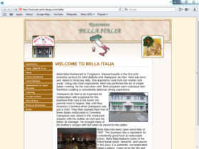 Example of Travel and Lodging Hotels and Restaurants small business web design