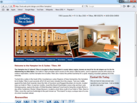 Example of Travel and Lodging Hotels and Restaurants web site marketing
